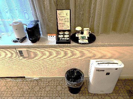 札幌グランドホテルのワーケーションプラン-加湿空気清浄機、コーヒーメーカー