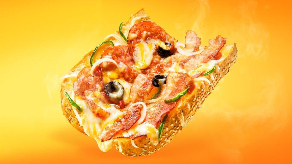 サブウェイ『ピザサブ』-ピザ ベーコンイタリアーナ