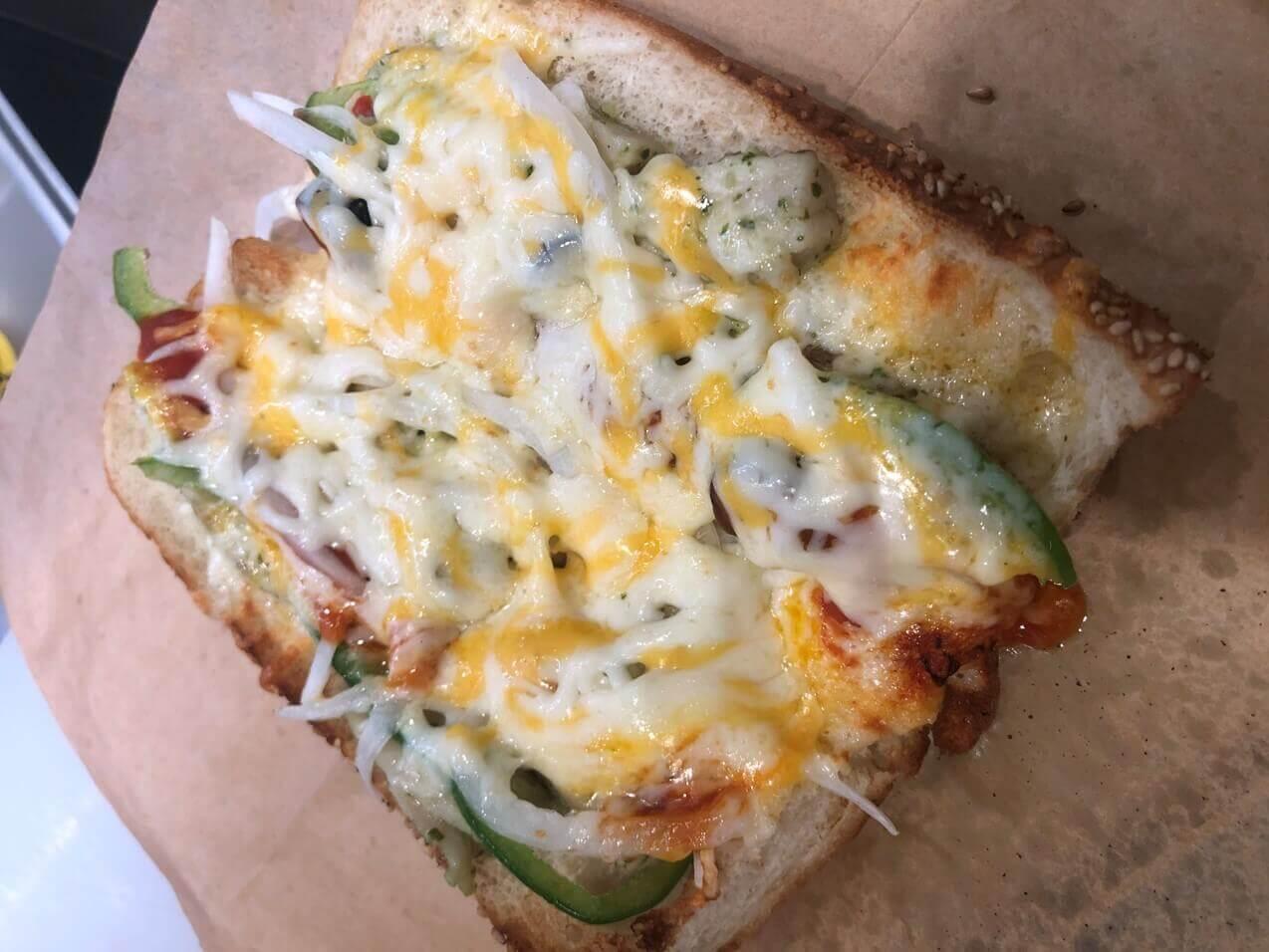 サブウェイ『ピザサブ』のチーズ
