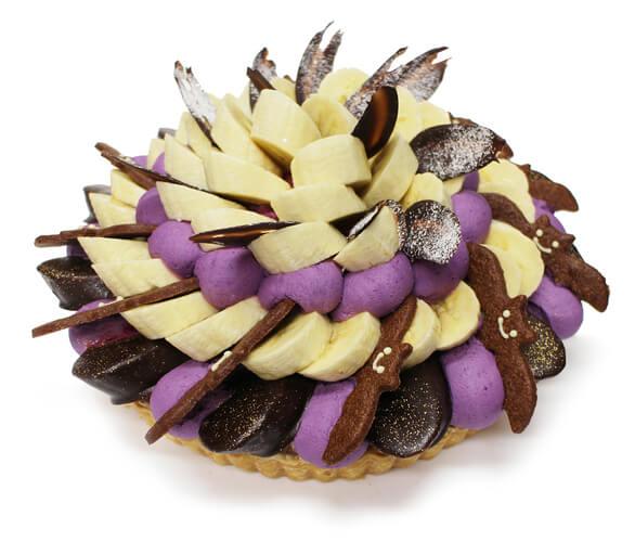カフェコムサの『ハロウィンゴーストタウン~チョコバナナと紫芋クリームのケーキ~』