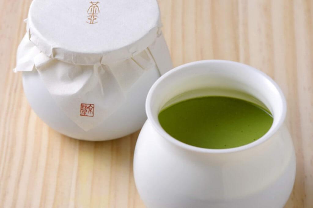 京はやしや『茶壺プリン』