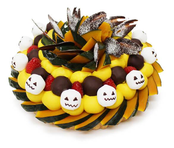 カフェコムサの『ハロウィンスカル~かぼちゃとマシュマロのケーキ~』