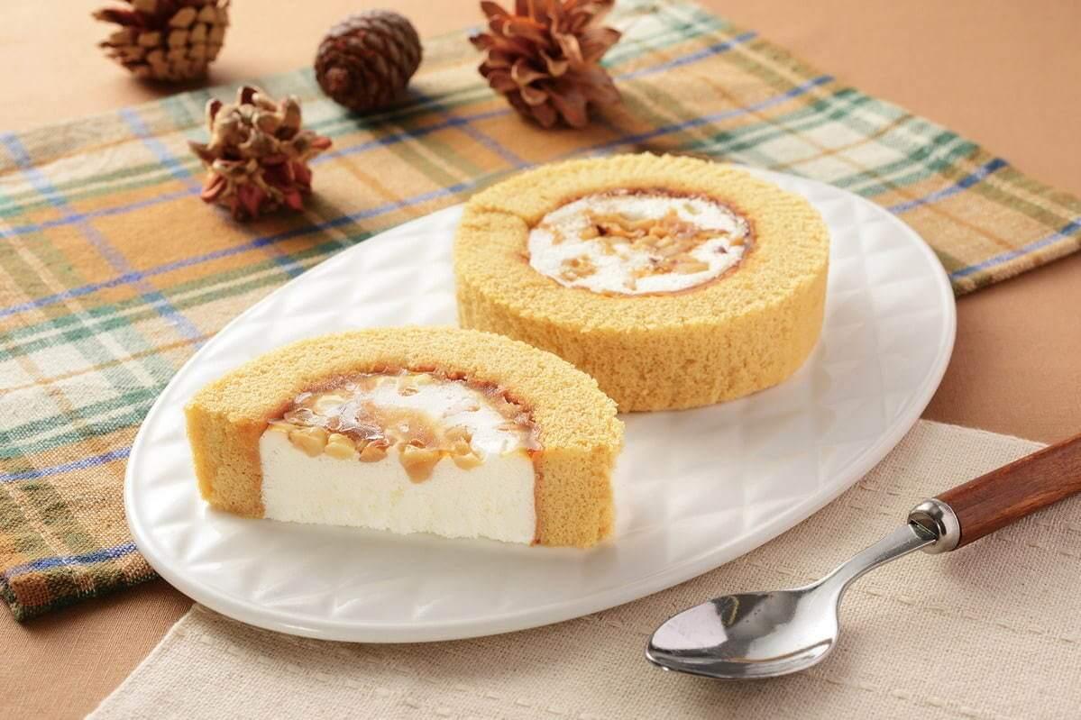 ローソンの『メープルナッツのロールケーキ』