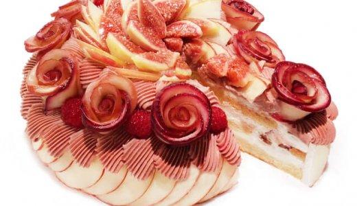 カフェコムサからりんごのバラも美しい『アップルローズのモンブランショートケーキ』が9月22日(火)に発売!