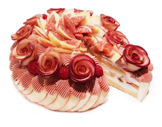 カフェコムサ『アップルローズのモンブランショートケーキ』