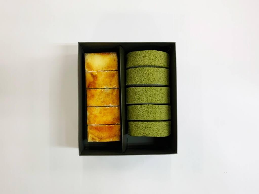 京はやしや『抹茶のサンマルクと抹茶ロールケーキ』