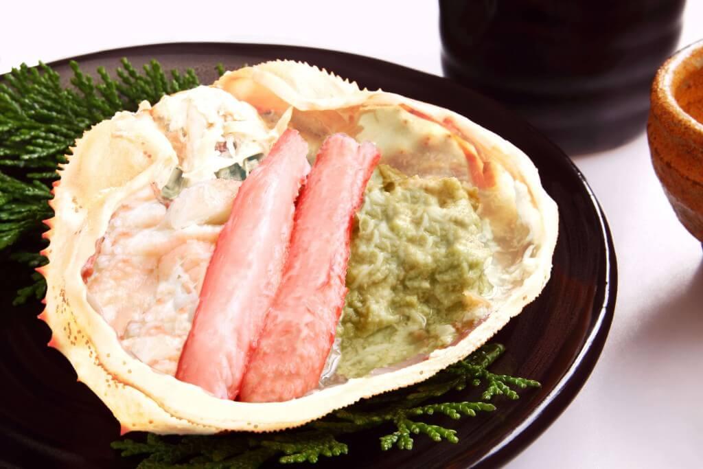 北海道秋の味覚セットのずわい甲羅盛り