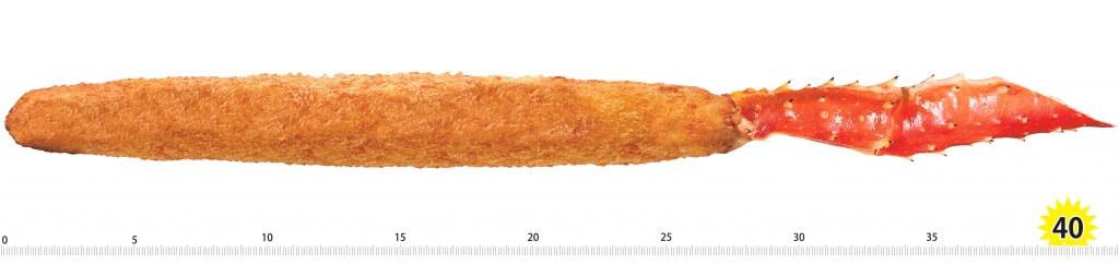 蟹のつめの『40cmの長さのカニフライ』