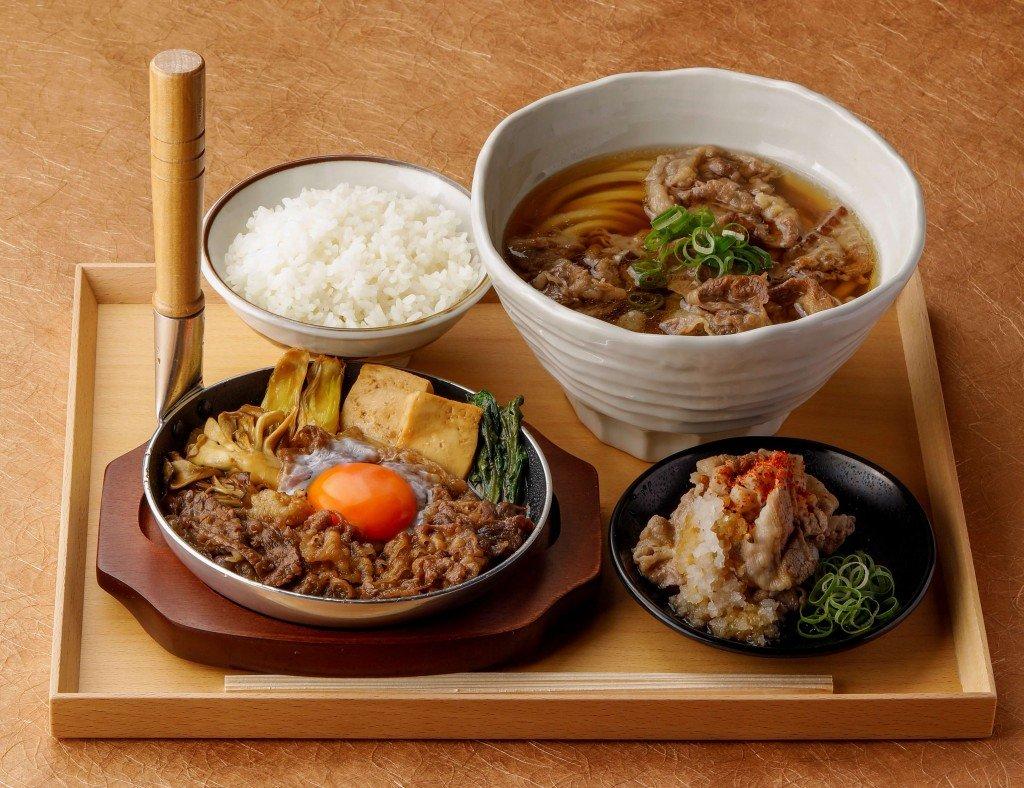 丸亀製麺の神戸牛づくし膳