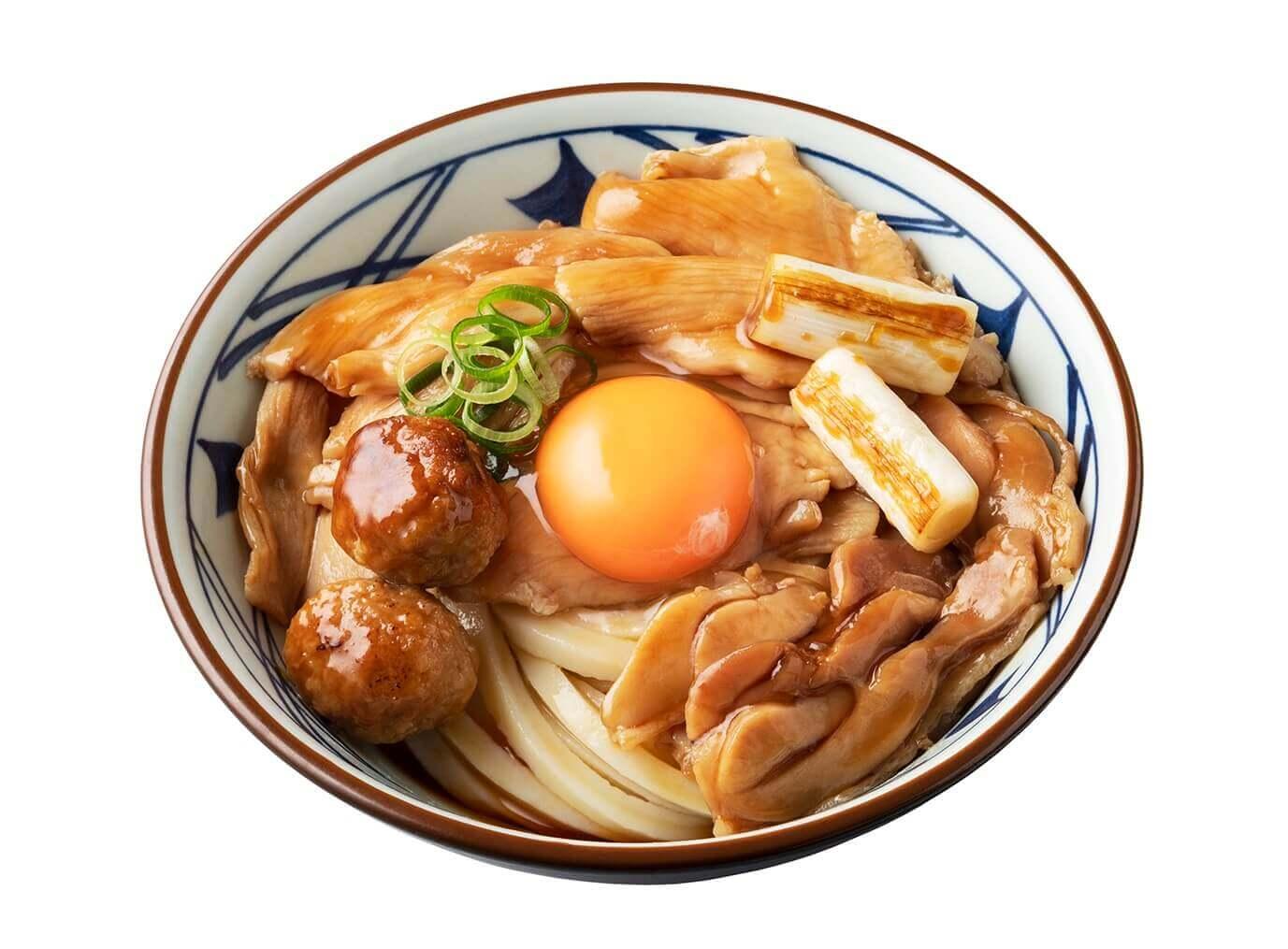 丸亀製麺の『月見鶏すき焼きぶっかけ』