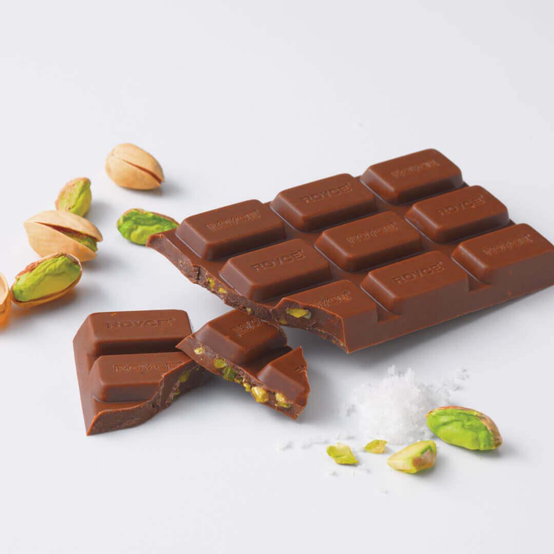 ロイズの板ショコラ[塩ピスタチオ]