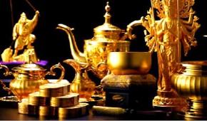 大黄金展に展示する金製品
