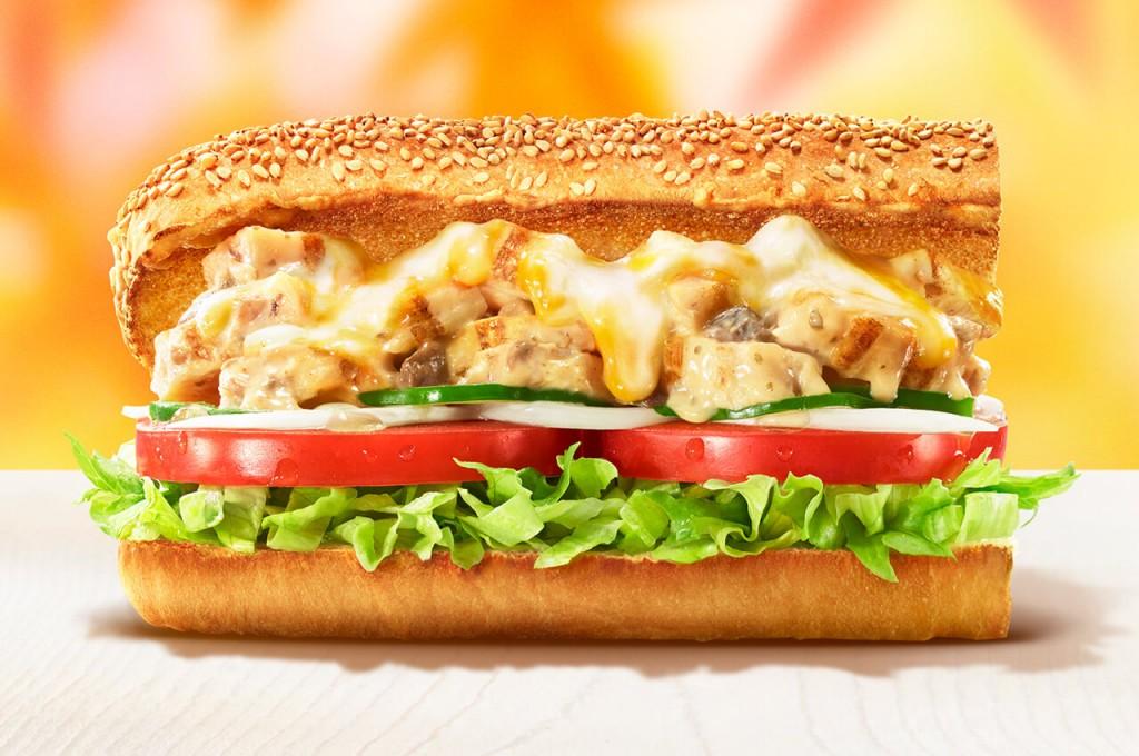 サブウェイの『クワトロチーズのクリーミーチキン ~贅沢ポルチーニソース~』