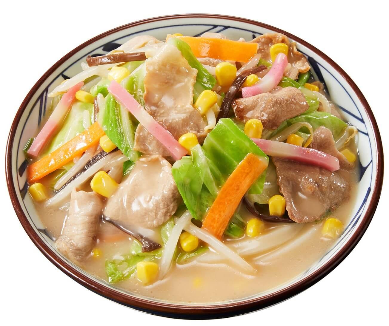 丸亀製麺の『豚ちゃんぽんうどん』