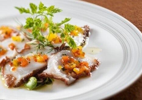 札幌グランドホテル ノーザンテラスダイナーの『ランチバイキング』-羅臼町産真蛸のカルパッチョ ガルシア風