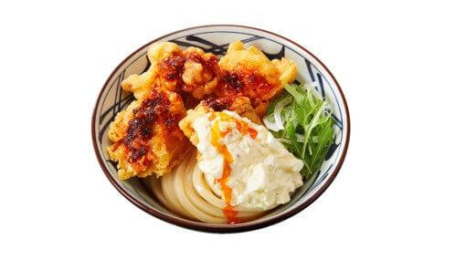 丸亀製麺の『タル鶏天ぶっかけうどん』公約1