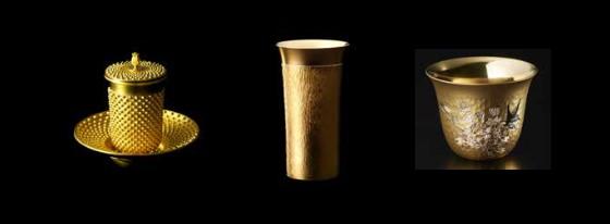大黄金展の茶器