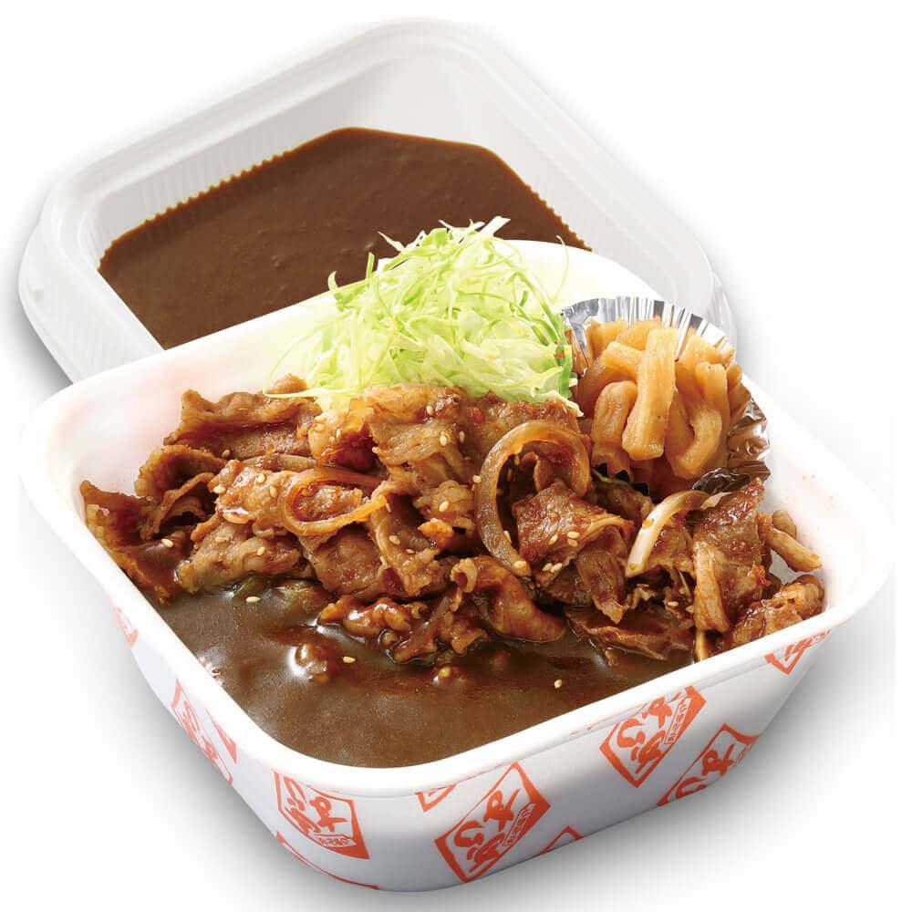 とんかつ専門店 かつやの『牛生姜焼きカレー弁当』