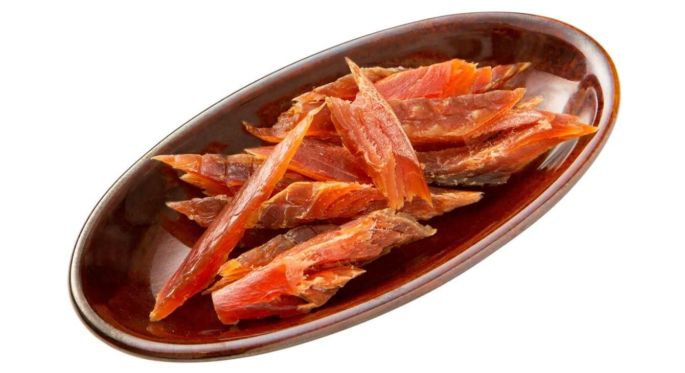 プロントの『北海道産秋鮭の燻とば』