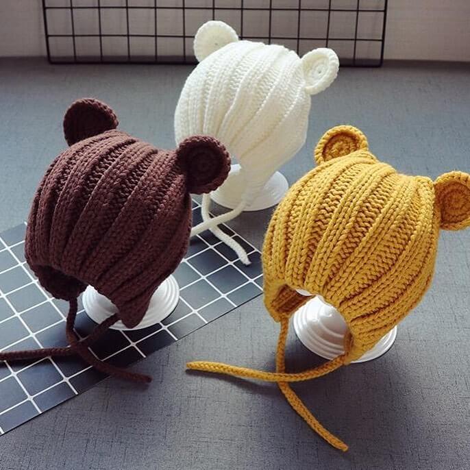 海外子供服&雑貨shop Sworkのくま耳ニット帽
