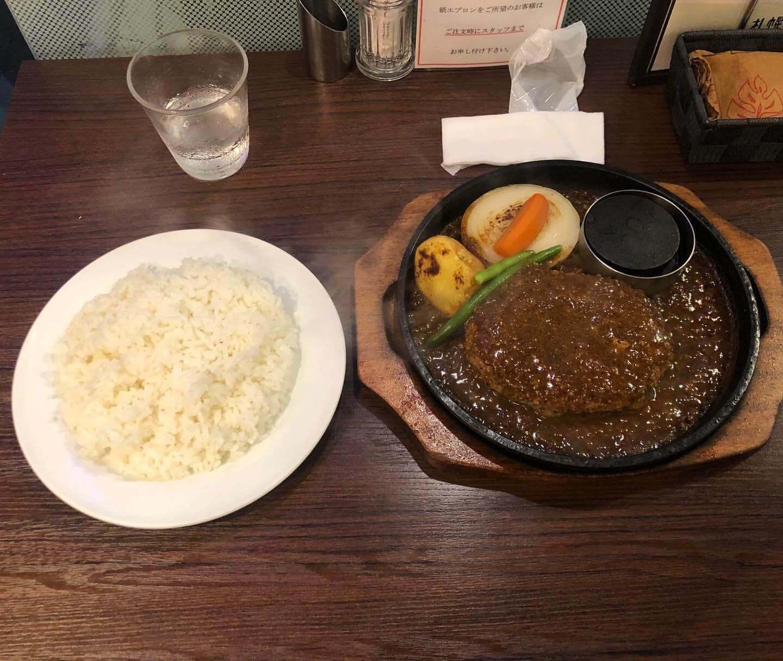 札幌 牛亭の『200gハンバーグステーキ』