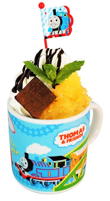 きかんしゃトーマス展 ソドー島のなかまたちが教えてくれたことの『トーマスカップパフェ』