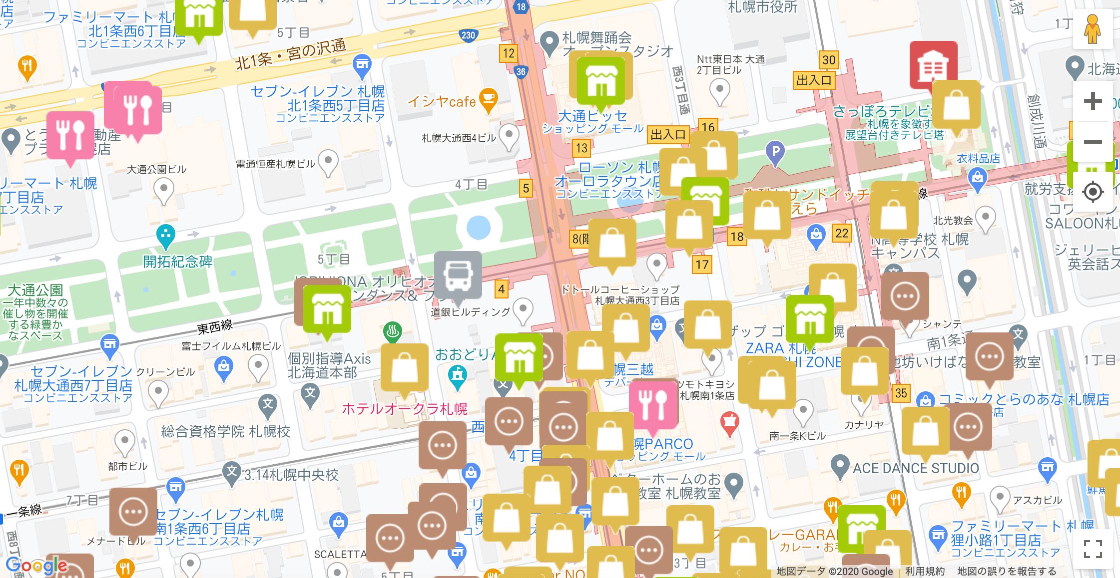 地域共通クーポン取扱店舗検索マップ