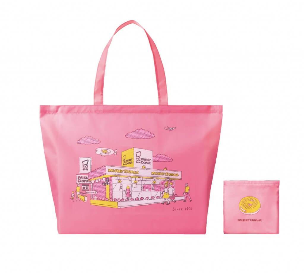 ミスタードーナツ事業創業50周年記念『ミスドエコバッグ』-ピンク