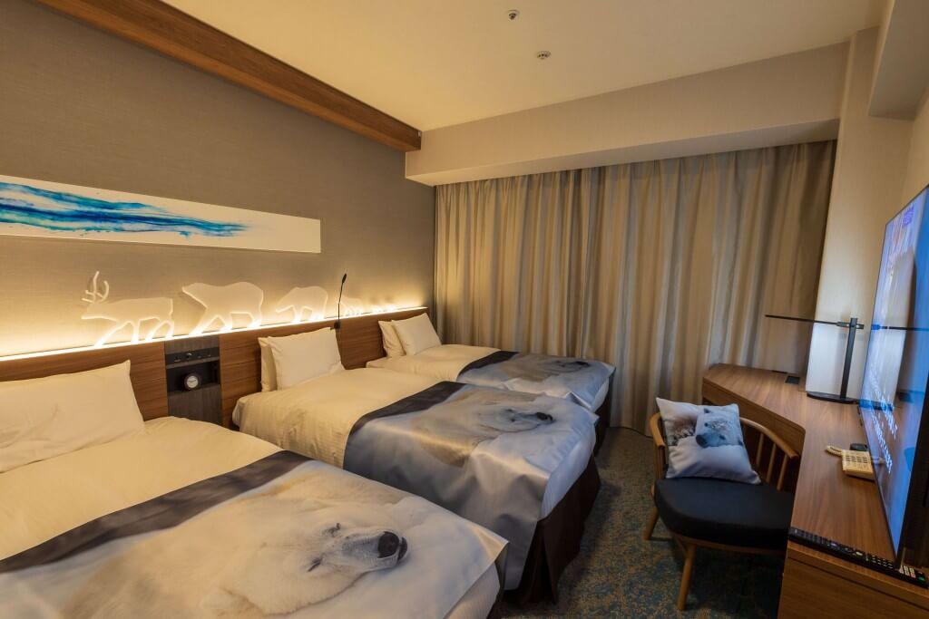 札幌プリンスホテル『わくわく円山動物園宿泊プラン』のコラボルーム