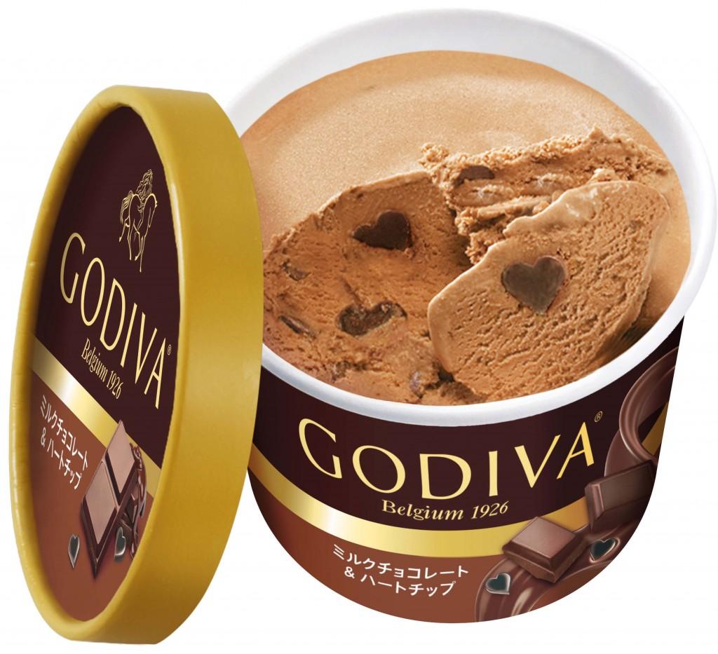 ゴディバのカップアイス新フレーバー『ミルクチョコレート&ハートチップ』