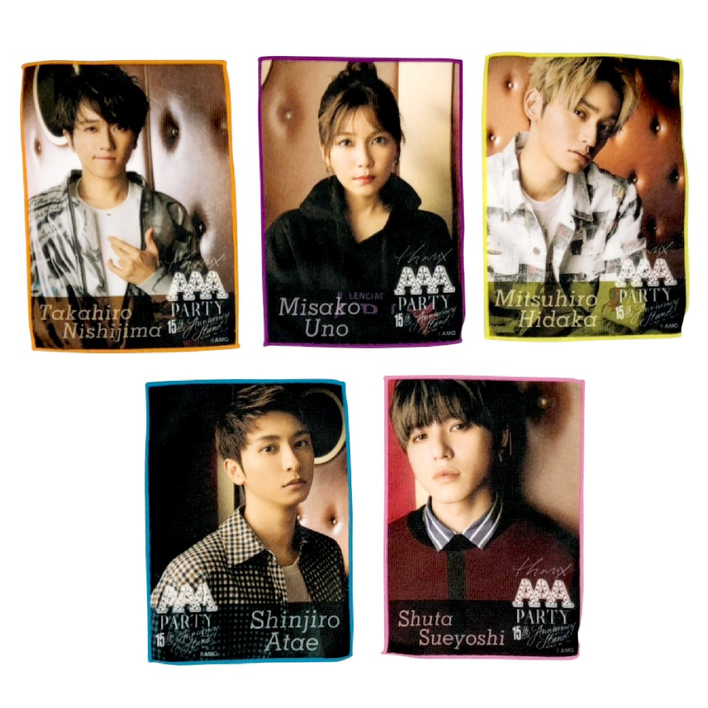 『THANX AAA PARTY ~15th AnniversAry stAnd~』-マイクロファイバータオル(全5種) 各1,500円