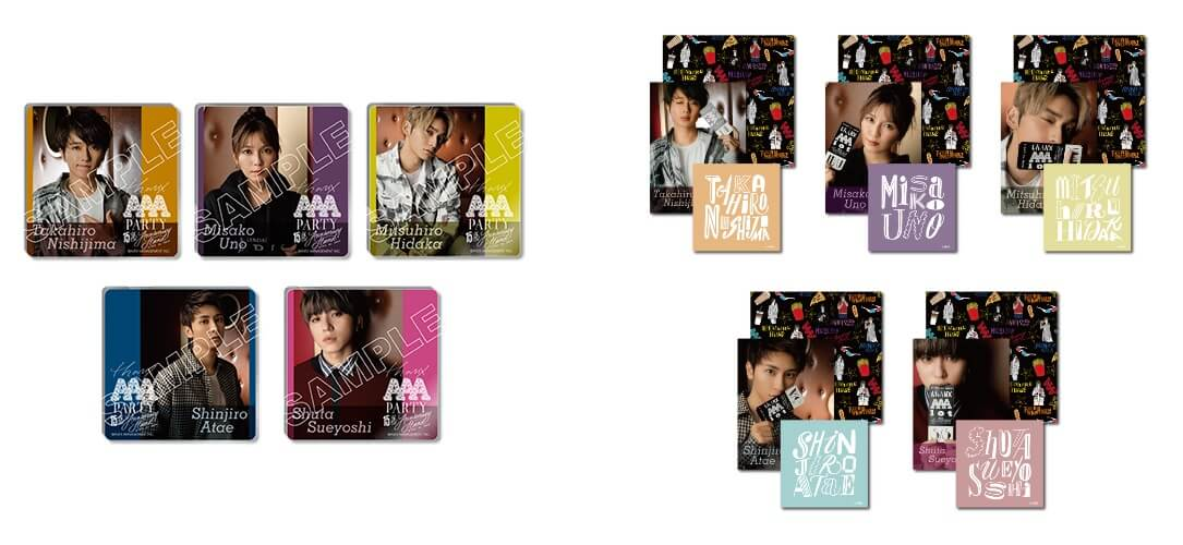 『THANX AAA PARTY ~15th AnniversAry stAnd~』-アクリルコースター [WINTER ver.](全5種、ランダム)、ステッカー3枚セット [WINTER ver.](全5種、ランダム)