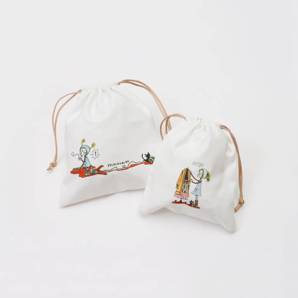 3COINS×ご近所物語『巾着2枚セット ¥300(税込¥330)』