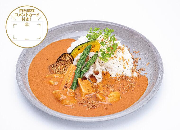 MAI SHIRAISHI CAFEの『バターチキンカレーと3種のデリセット』