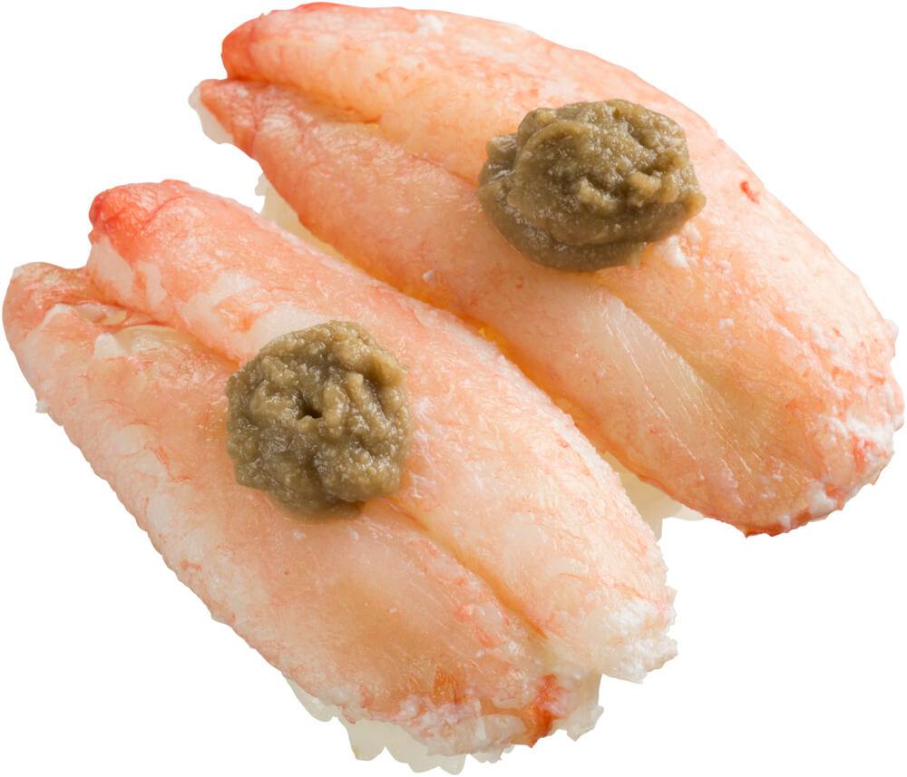 スシロー『かに祭』-丸ずわい蟹2貫