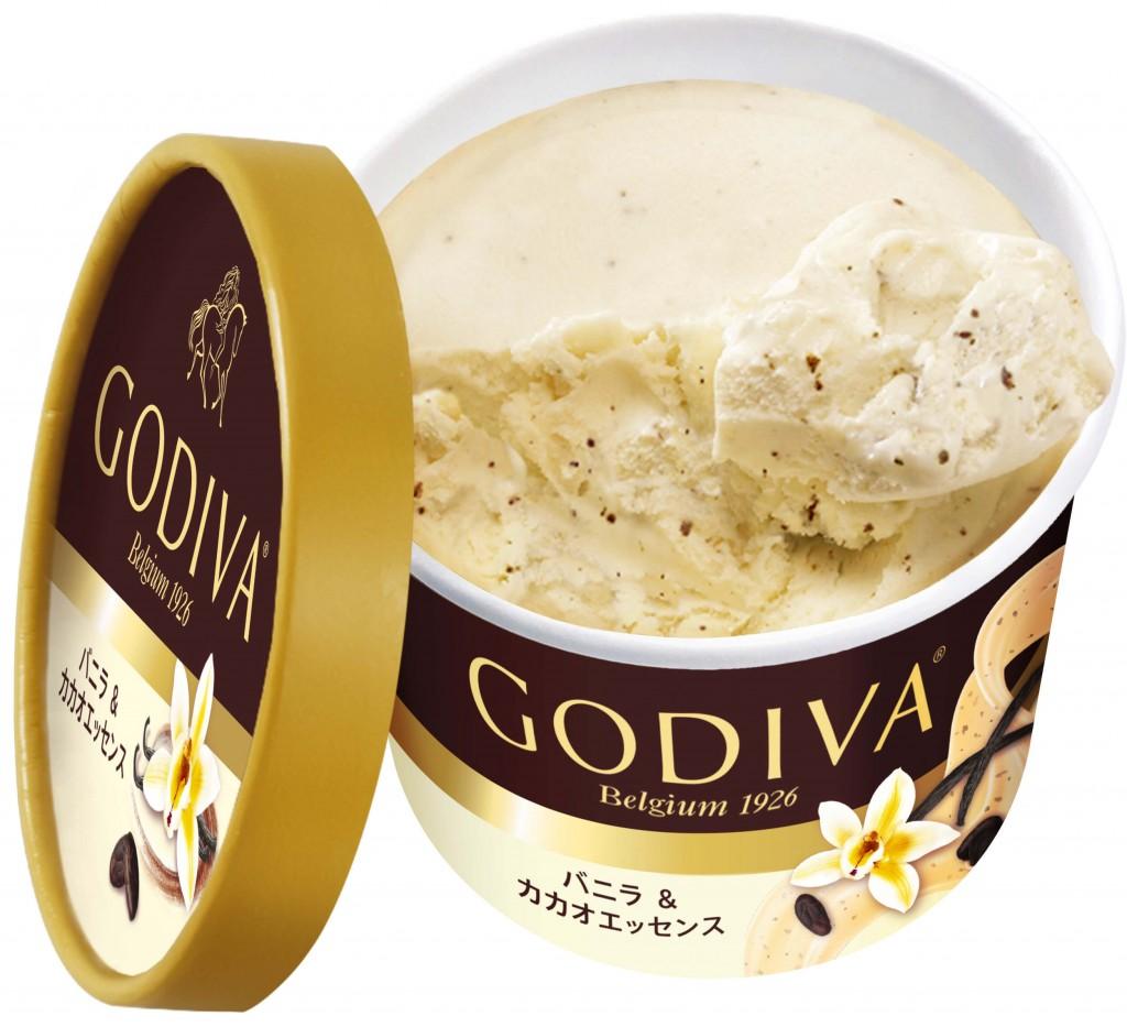 ゴディバのカップアイス新フレーバー『バニラ&カカオエッセンス』