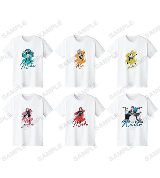 『初音ミク POP UP SHOP in TOWER RECORDS』のTシャツ(全6種)