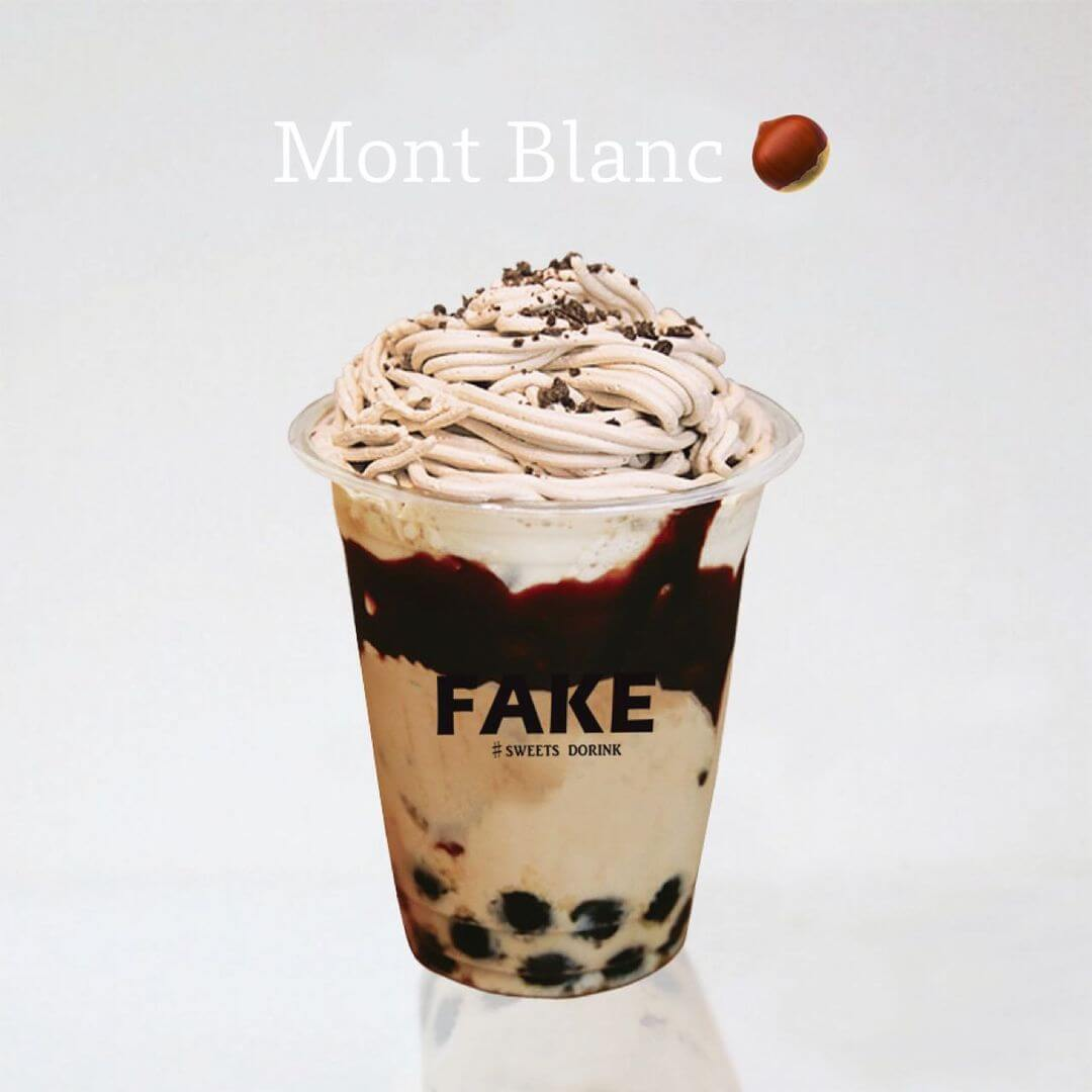 フェイクサプライズスイーツ『フェイクの飲むスイーツドリンク-モンブランクリームミルク』