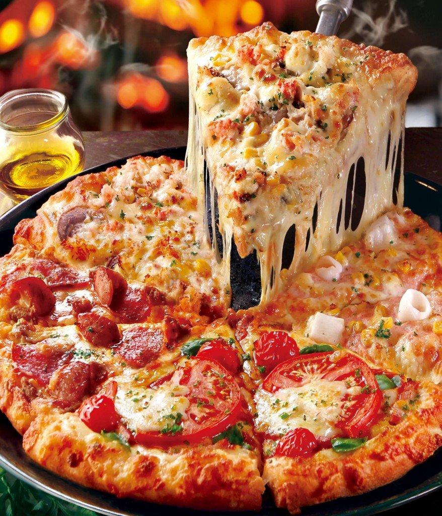 PIZZA-LA『カニのよくばりクォーター』