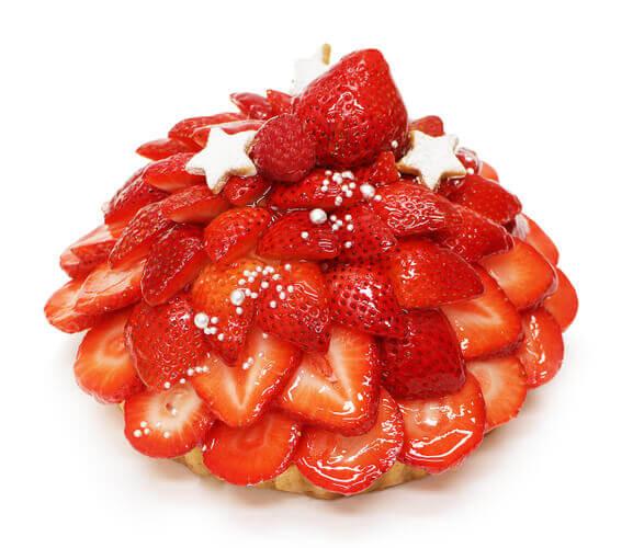 カフェコムサの『福岡県産いちご「あまおう」のケーキ』