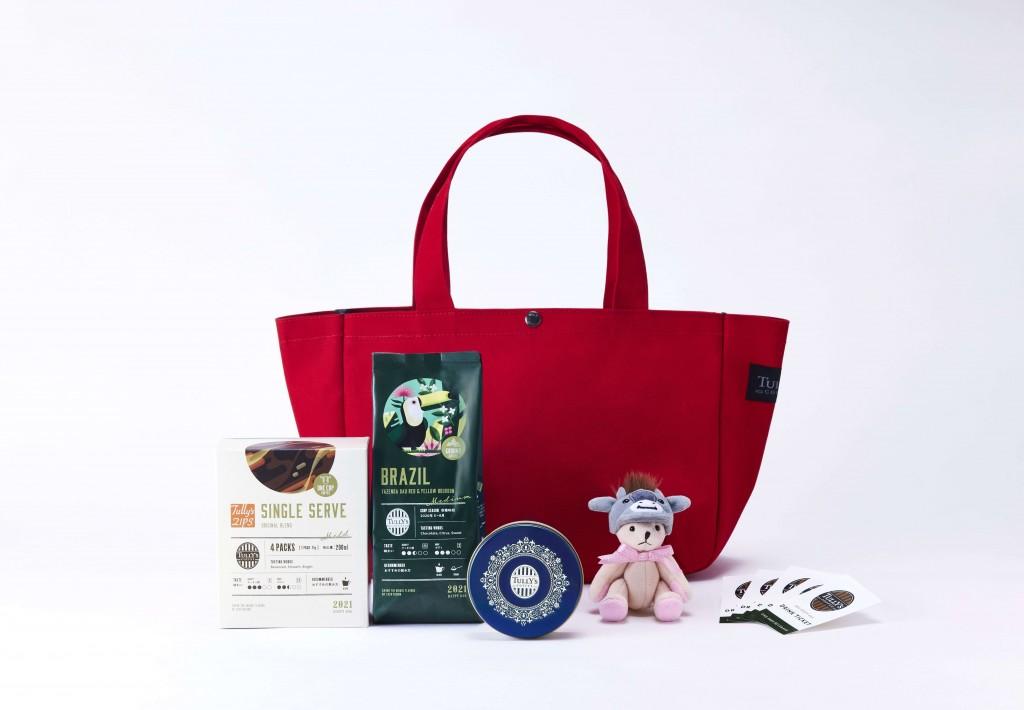タリーズコーヒー福袋『2021 HAPPY BAG』-3,500円バッグ(レッド)
