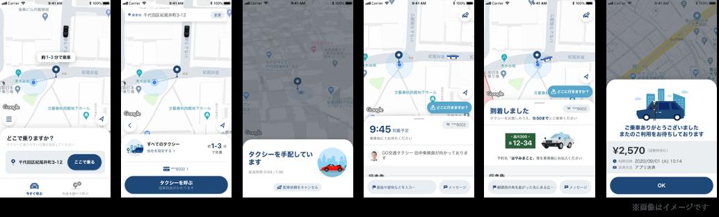 タクシーアプリ『GO(ゴー)』の機能