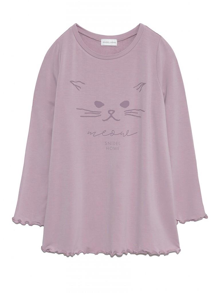 スナイデルホーム『ネコロングTシャツ』
