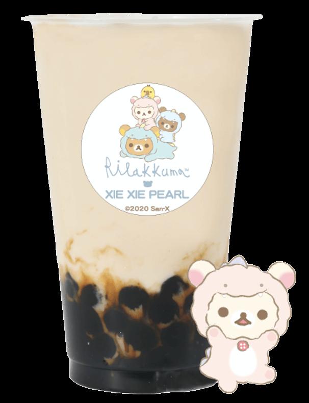 謝謝珍珠(シェイシェイパール)×リラックマ『コリラックマのさくらんぼほうじ茶ミルクティー』
