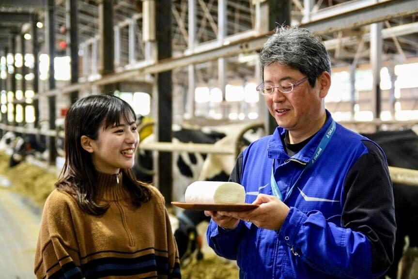 北海道しあわせロール(ミルク/チーズ)-江別市にある農場「kalm角山」