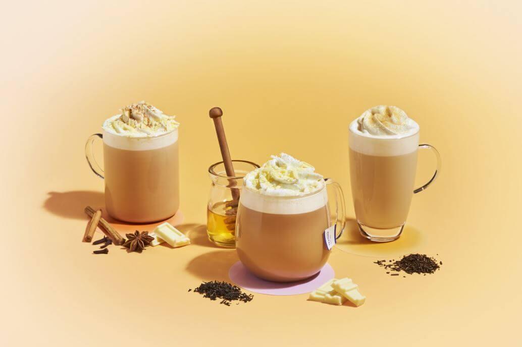 スターバックスコーヒー『アール グレイ ハニー ホイップ ティー ラテ』『チャイ & ホワイト チョコレート ティー ラテ』『ほうじ茶 クリーム ティー ラテ』