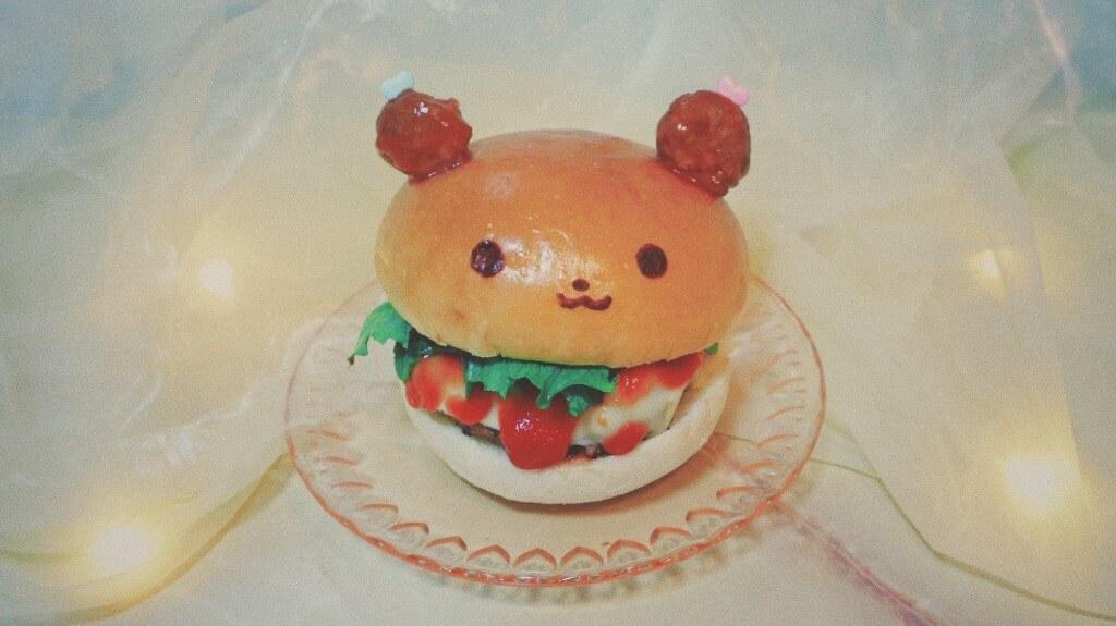 喫茶フルーッの『くまちゃんのハンバーガー』