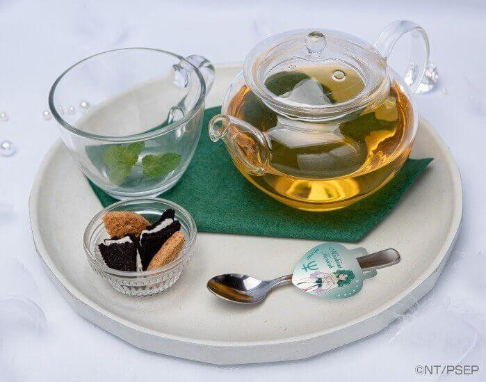 セーラームーンカフェ-Eternal-『みちるのEternalホットティー(緑茶)』