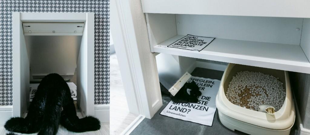 ネコフィーノ宮の沢-トイレスペースと猫ドア
