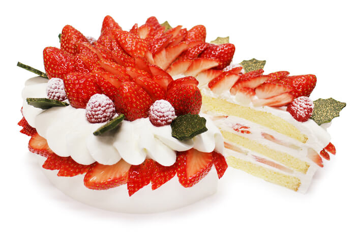 カフェコムサ『いちごのクリスマスショートケーキ』